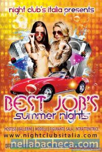 Nota Agenzia Night Clubs Italia offre lavoro estivo
