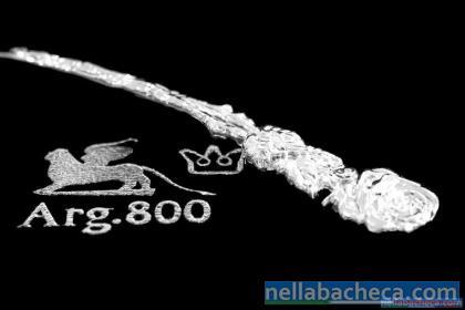 NUOVO Servizio posate Argento 800 per 6 persone 27pezzi in German Silver