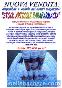Stock articoli parafarmacia