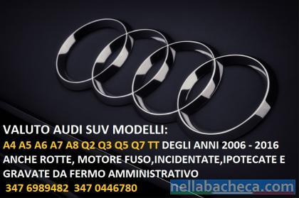 Veicoli Audi incidentati in fermo amministrativo