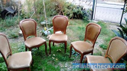 5 sedie con seduta morbida