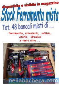 Stock ferramenta 48 bancali